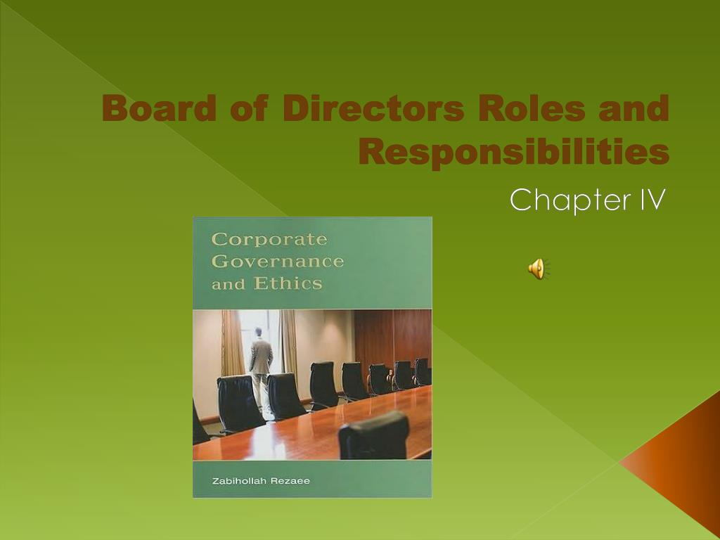 Board of Directors Roles and Responsibilities