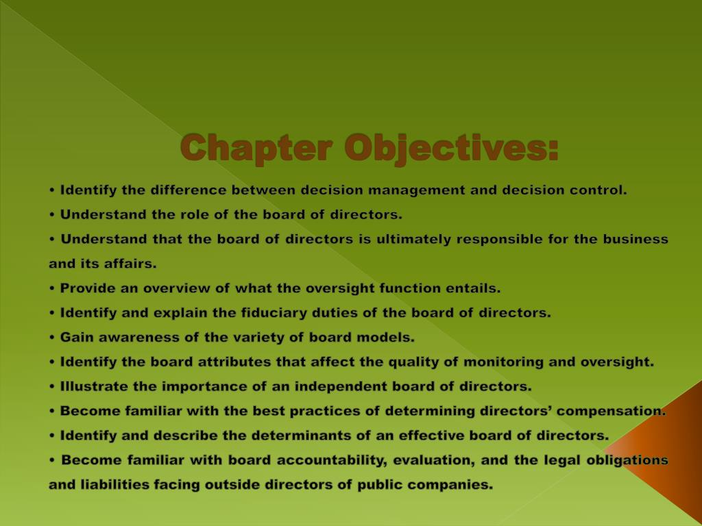 Chapter Objectives: