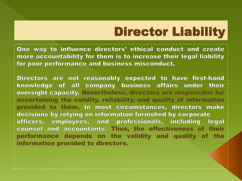 Director Liability