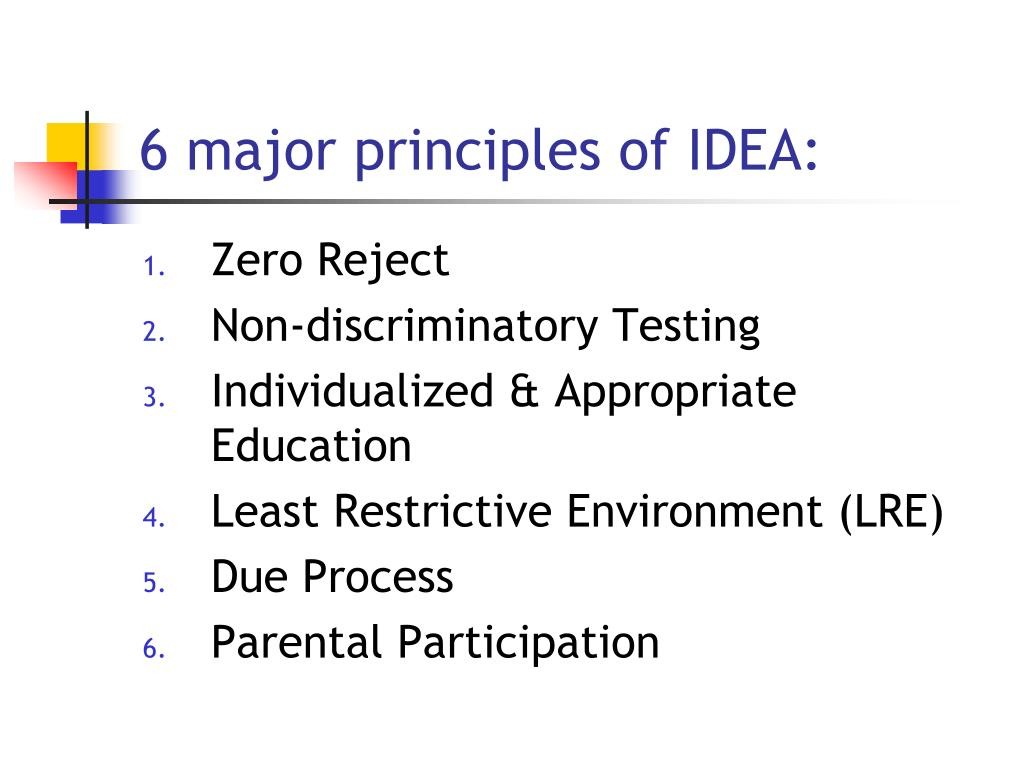 6 major principles of IDEA: