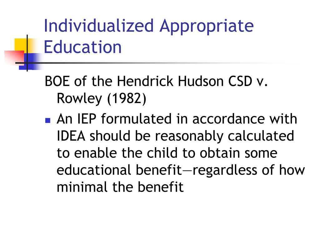 Individualized Appropriate Education
