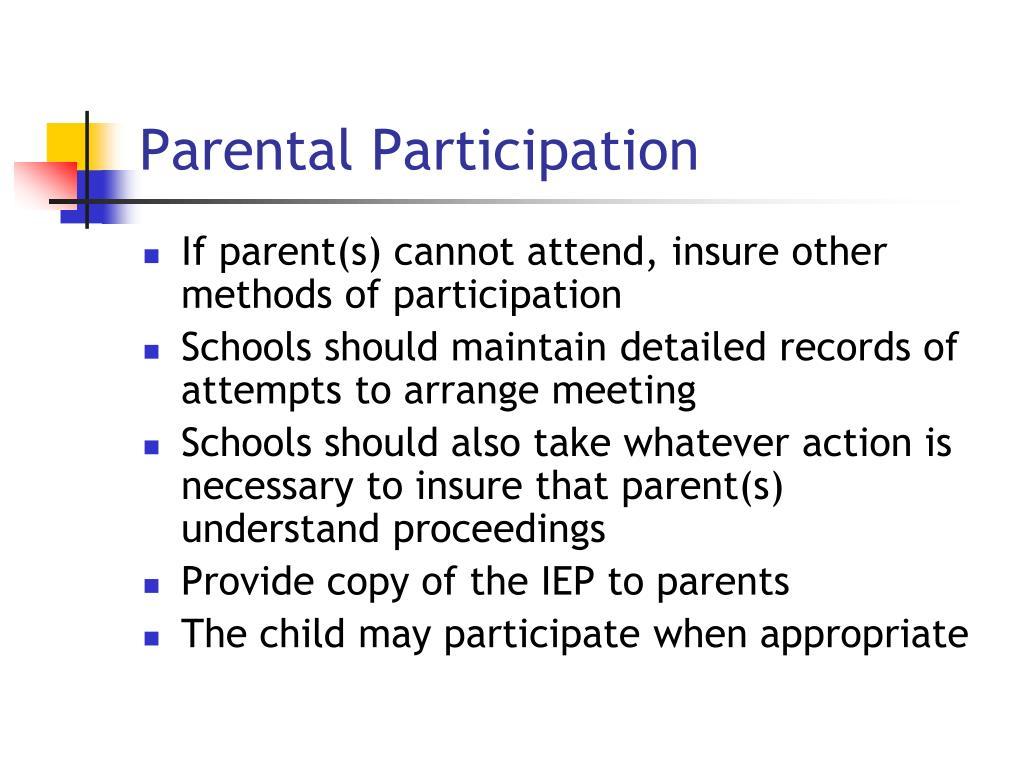 Parental Participation