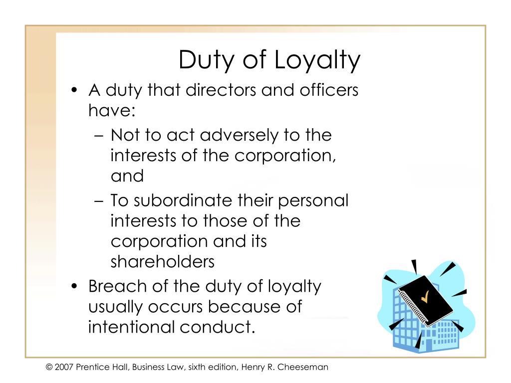 Duty of Loyalty