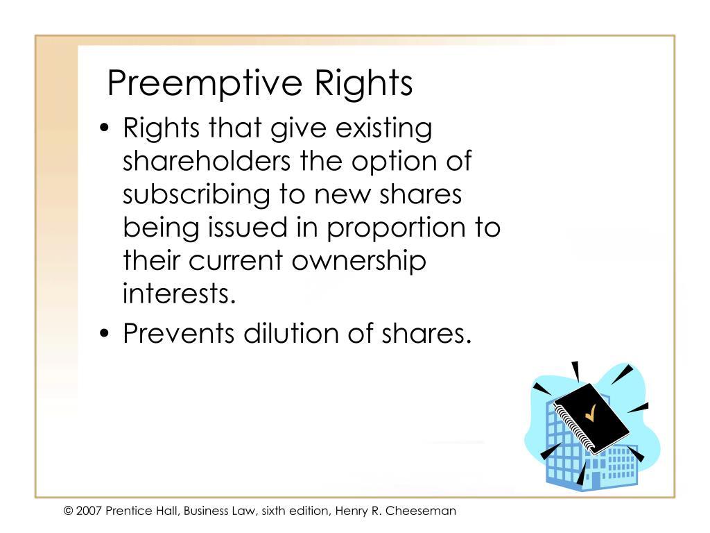 Preemptive Rights
