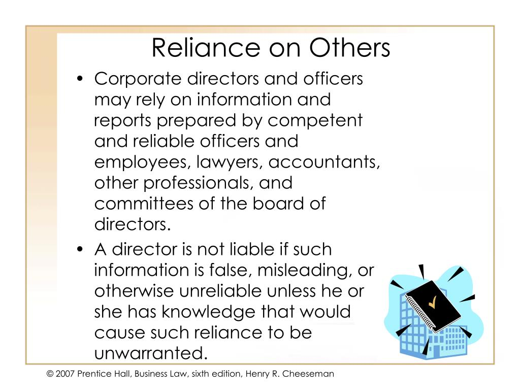 Reliance on Others