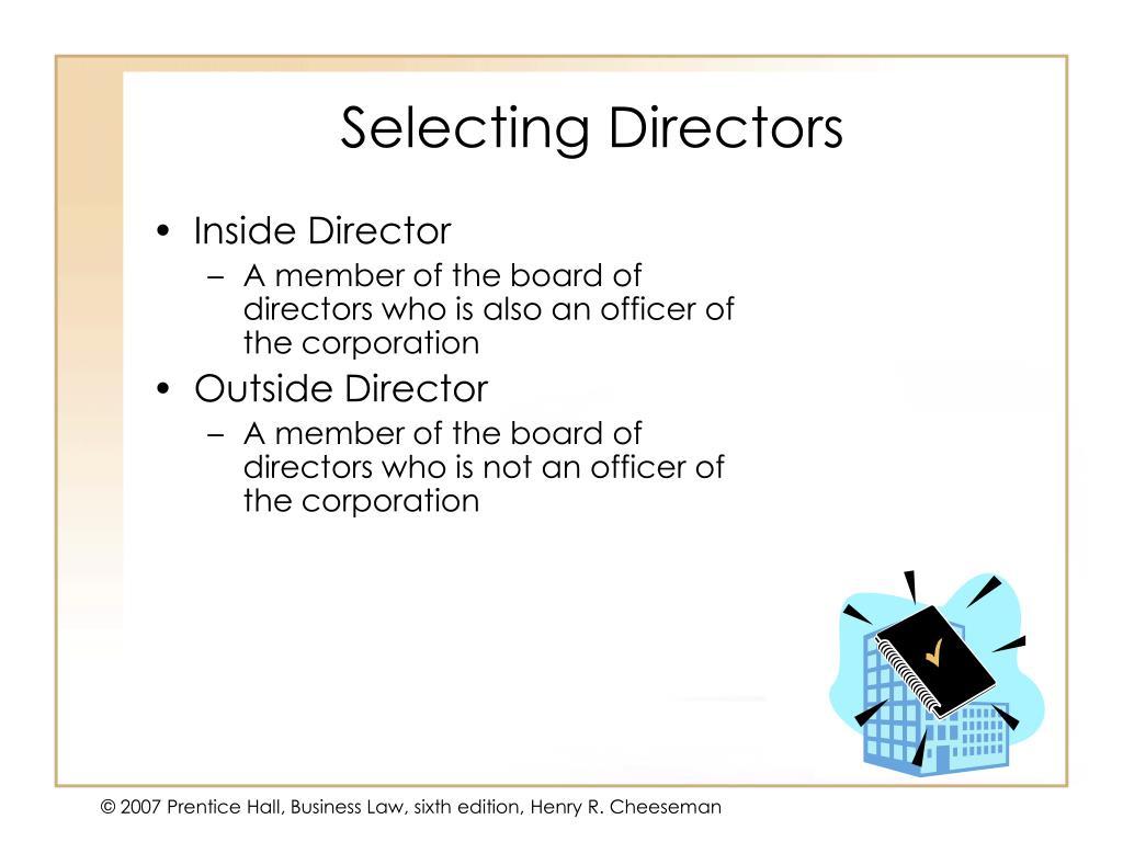 Selecting Directors