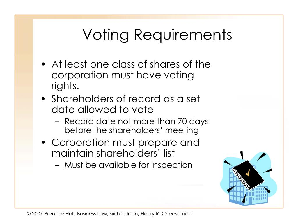 Voting Requirements