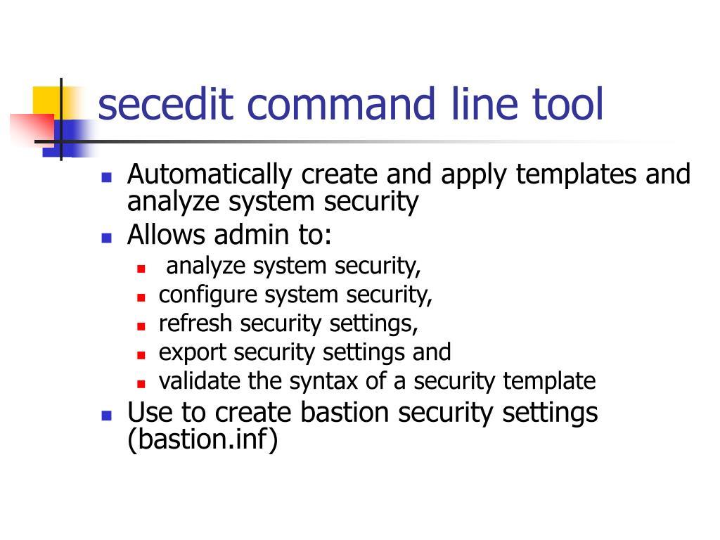 secedit command line tool