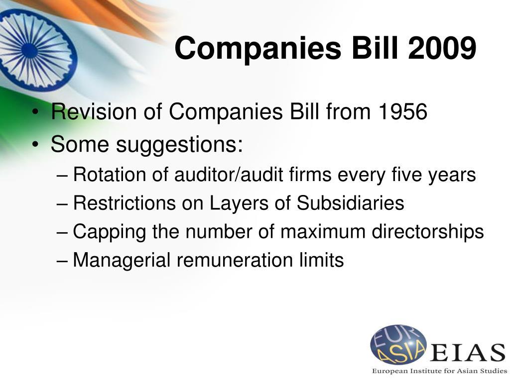 Companies Bill 2009