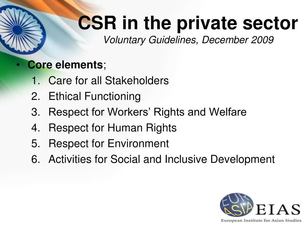 CSR in the private sector