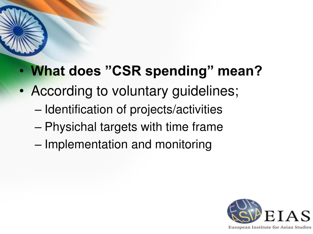 """What does """"CSR spending"""" mean?"""