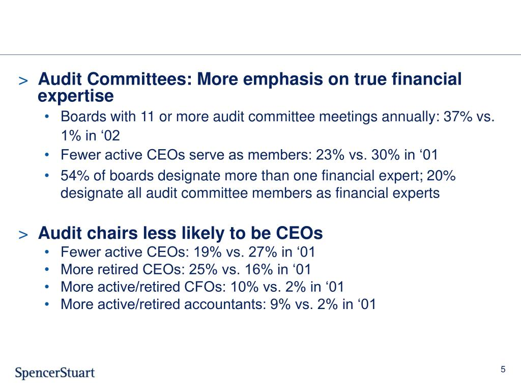 Audit Committees: More emphasis on true financial expertise