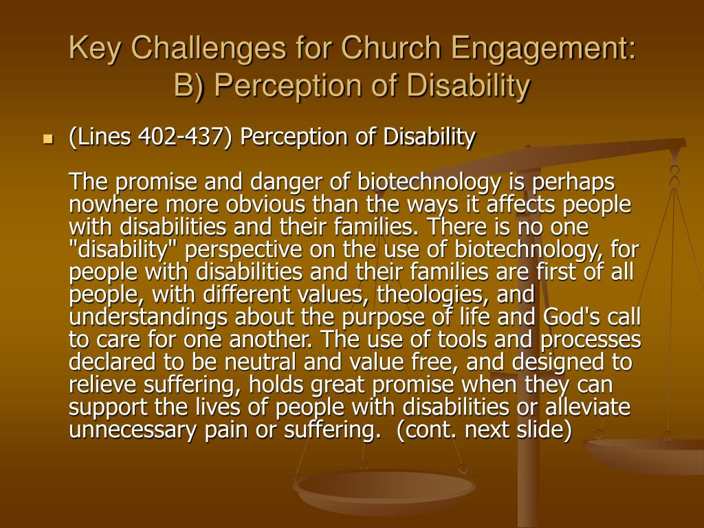 Key Challenges for Church Engagement: