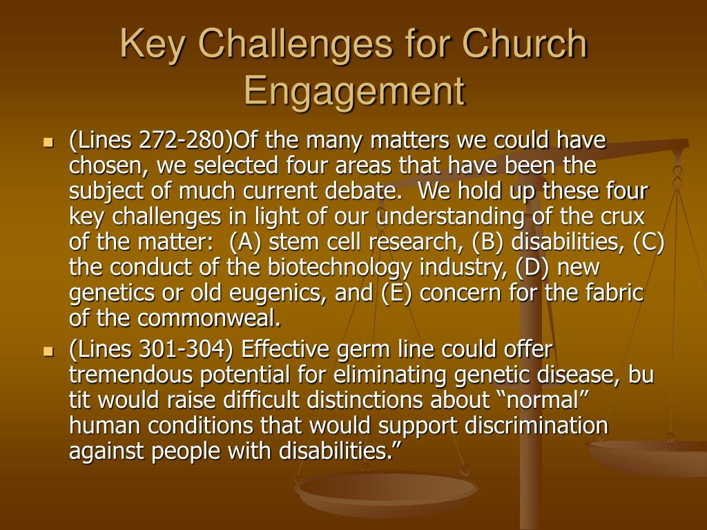 Key Challenges for Church Engagement