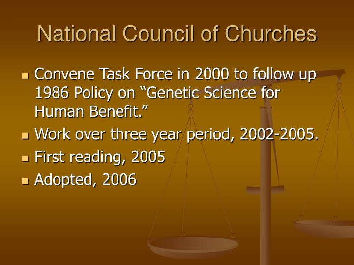 National council of churches