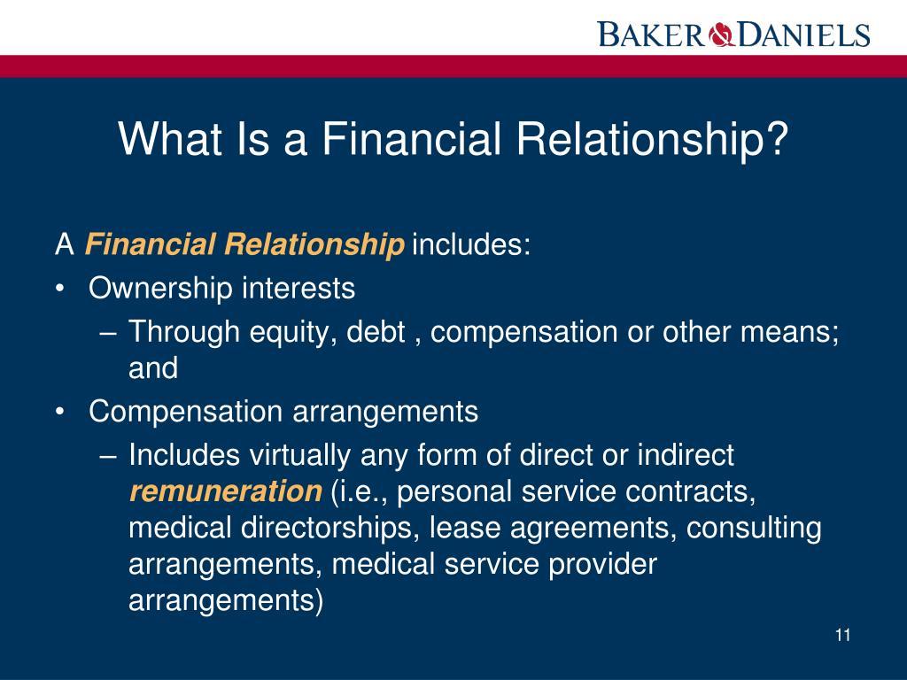 stark definition financial relationship