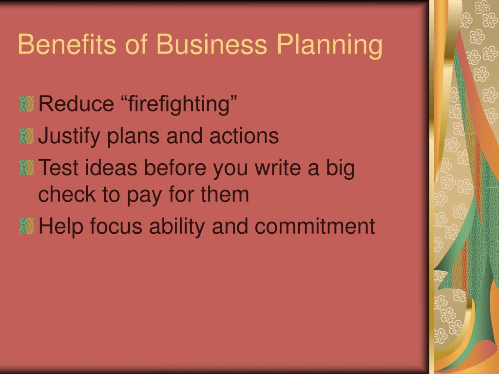 Benefits of Business Planning