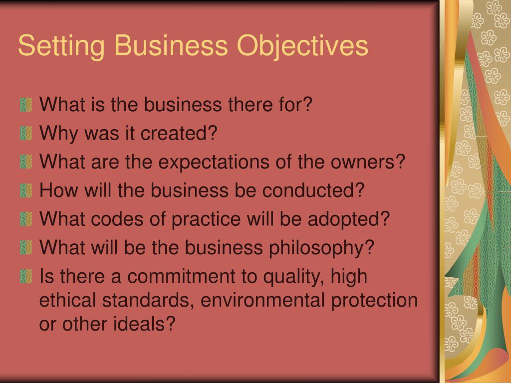 Setting Business Objectives