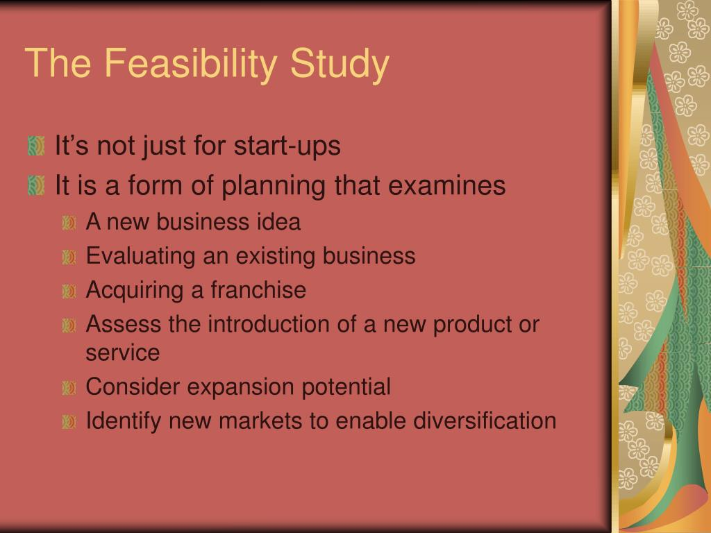 The Feasibility Study
