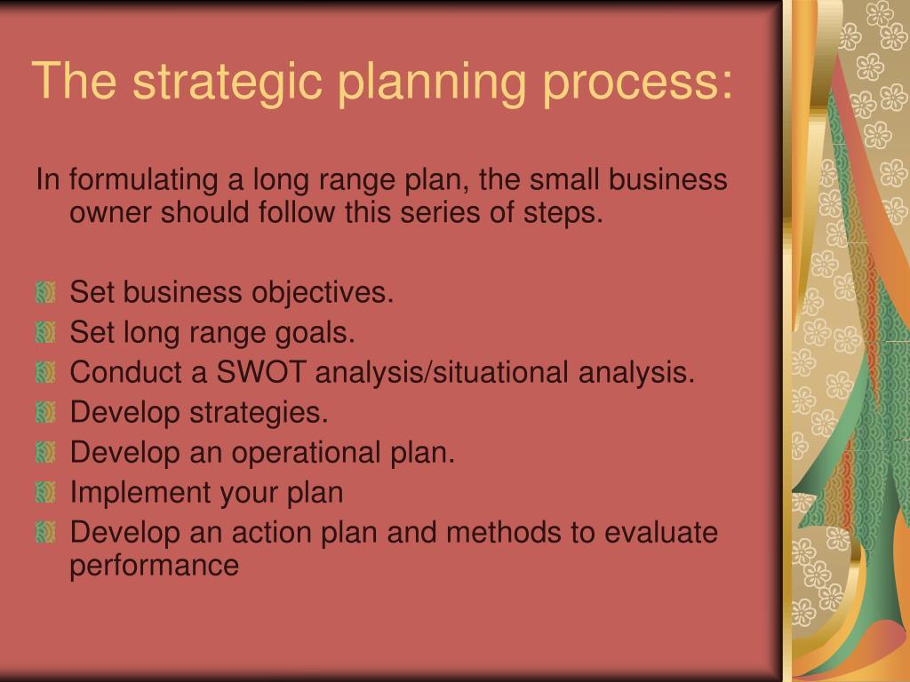 The strategic planning process: