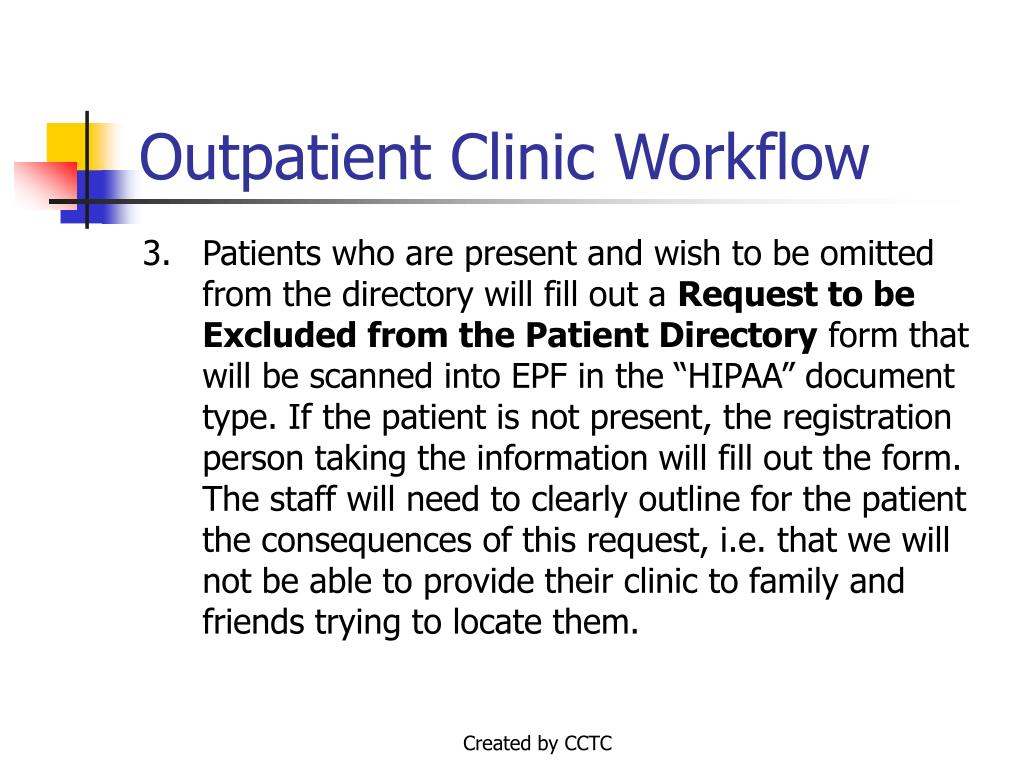 Outpatient Clinic Workflow