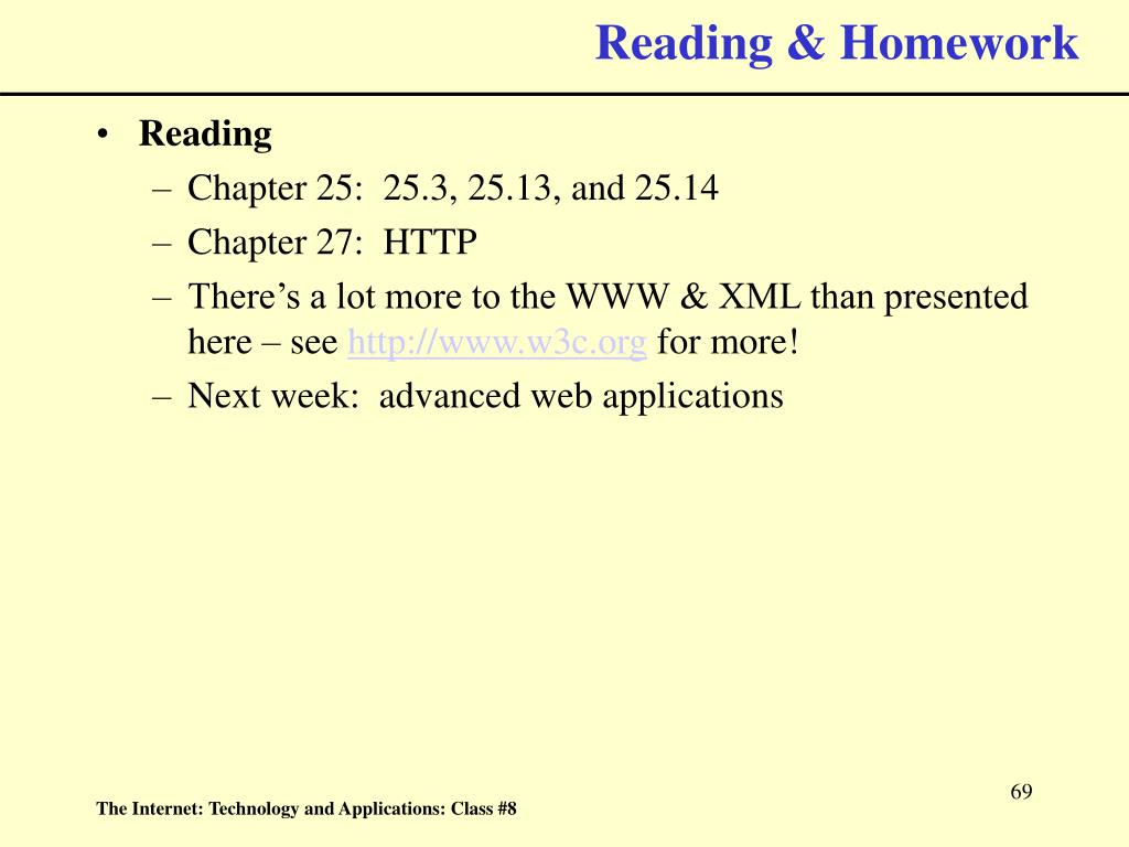 Reading & Homework