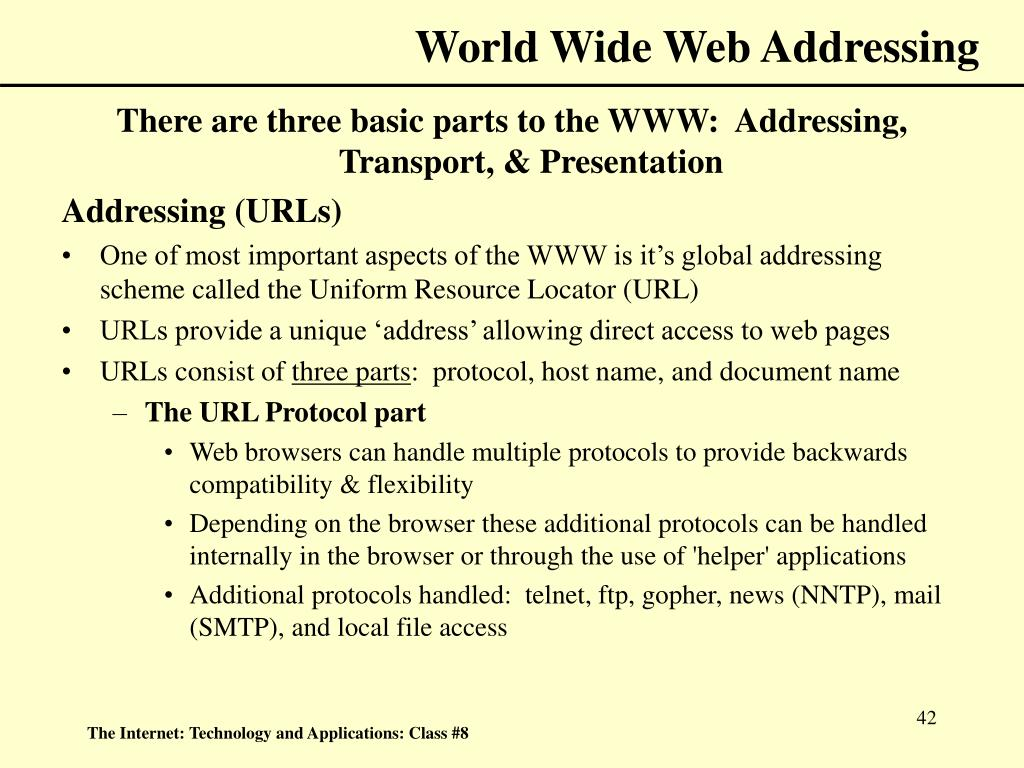 World Wide Web Addressing