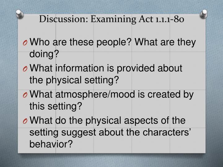 Discussion: Examining