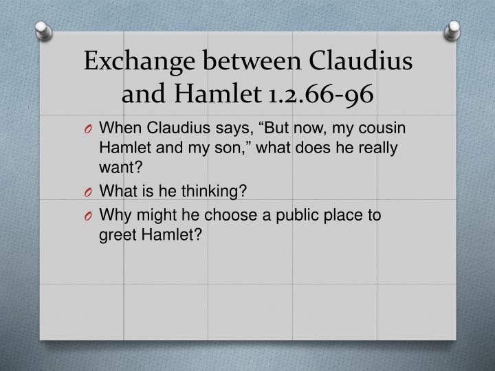 Exchange between Claudius and Hamlet 1.2.66-96