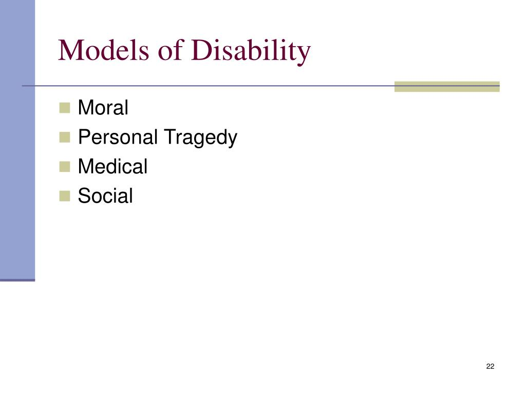 social model of disability education essay Models of disability: implications for practice julie smart, phd  education, or achievements knows in the economic model disability is defined.