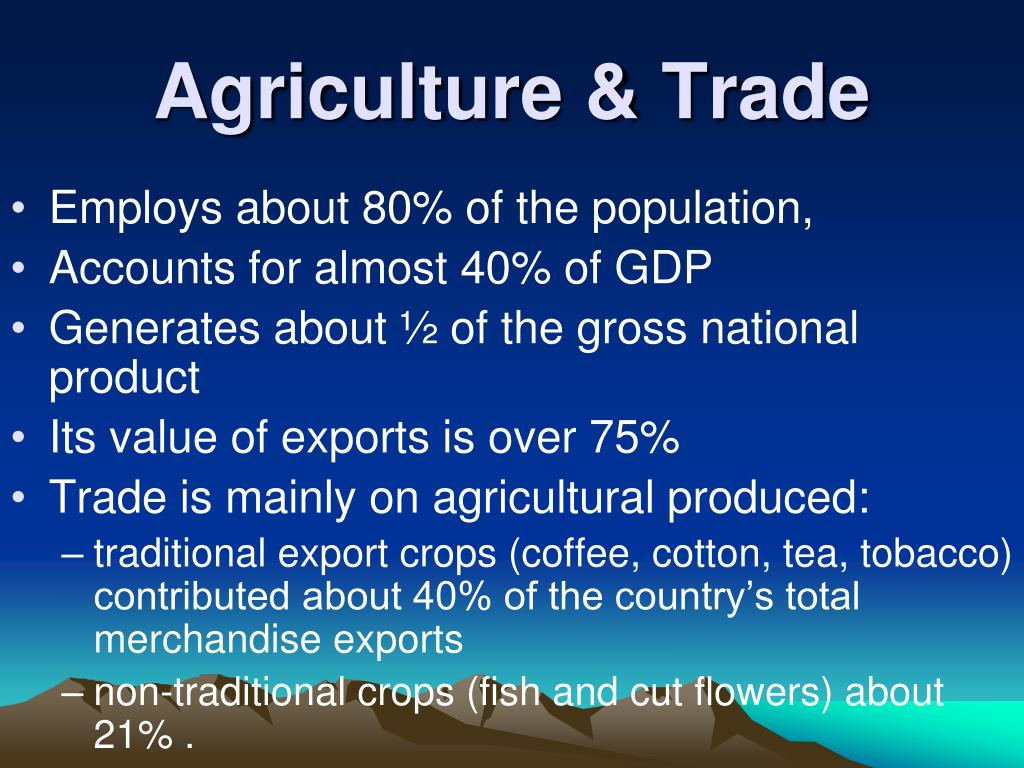 Agriculture & Trade