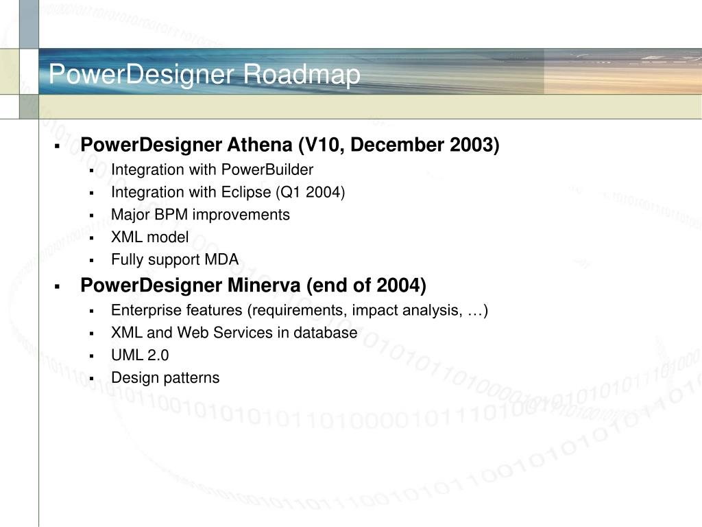 PowerDesigner Roadmap