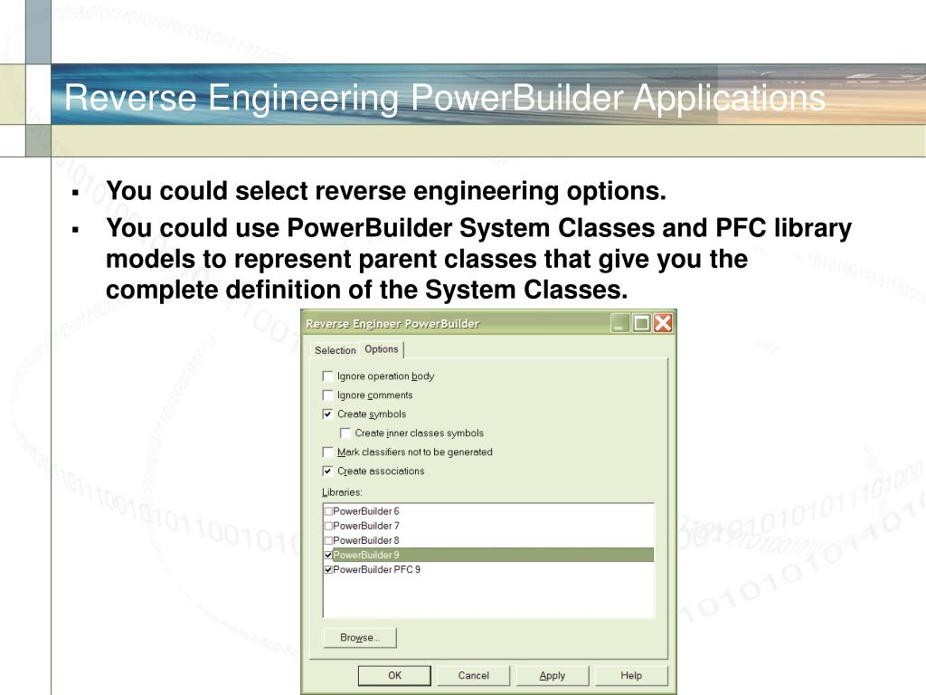 Reverse Engineering PowerBuilder Applications