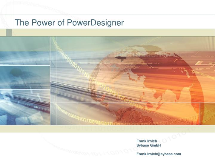 The power of powerdesigner