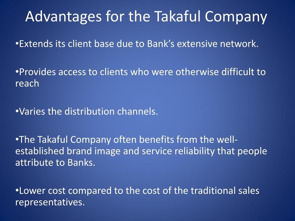 Advantages for the Takaful Company