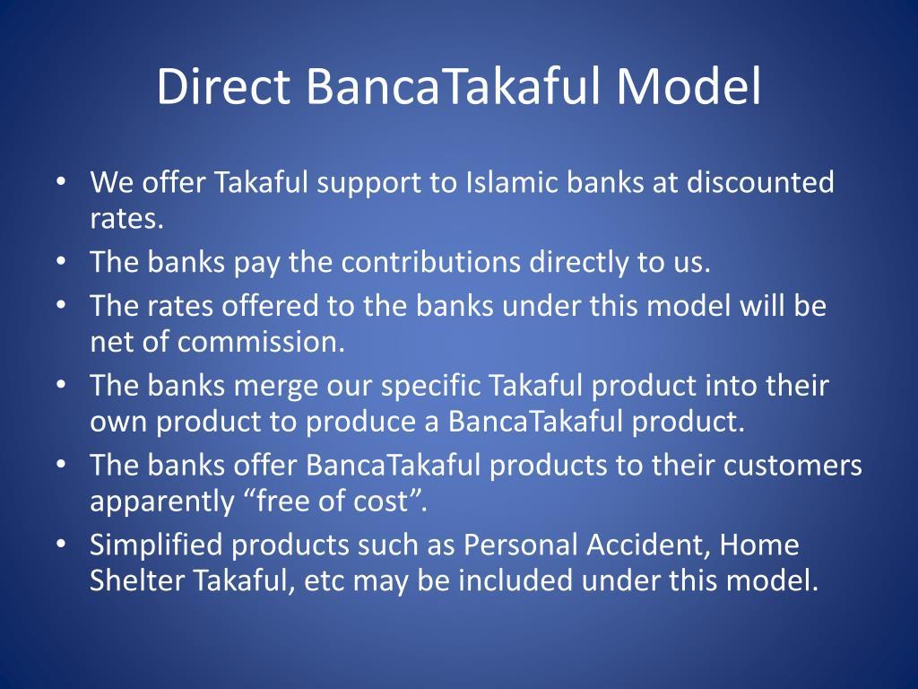 Direct BancaTakaful Model