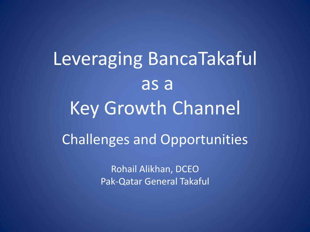 Leveraging BancaTakaful