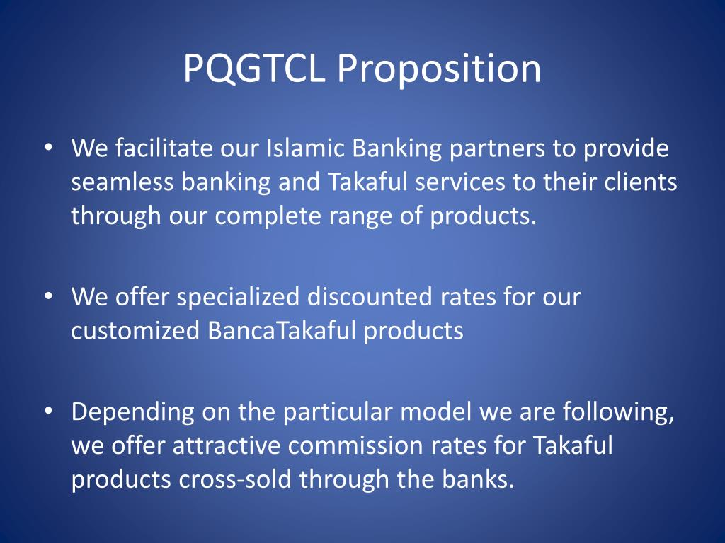PQGTCL Proposition