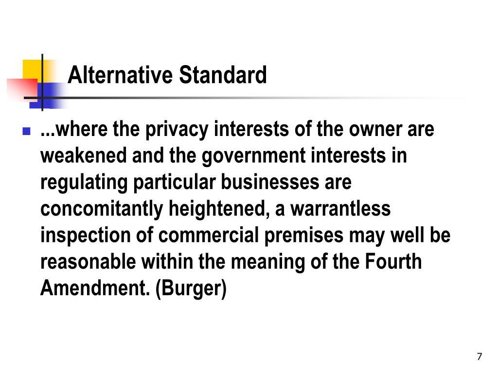 Alternative Standard