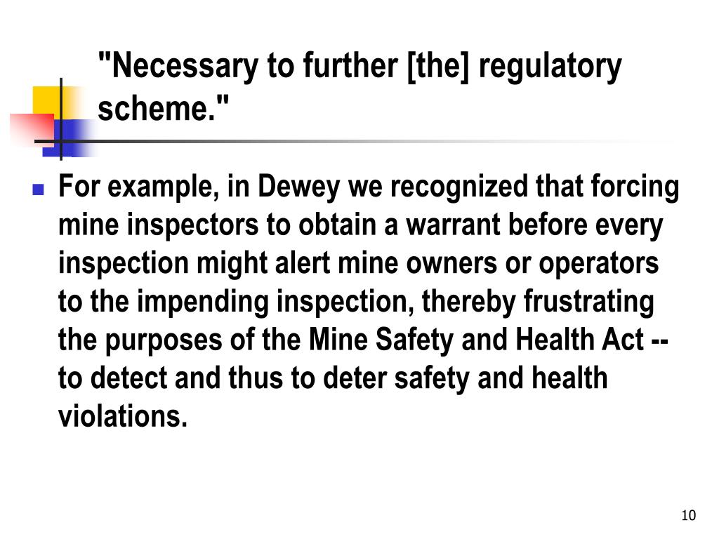 """Necessary to further [the] regulatory scheme."""