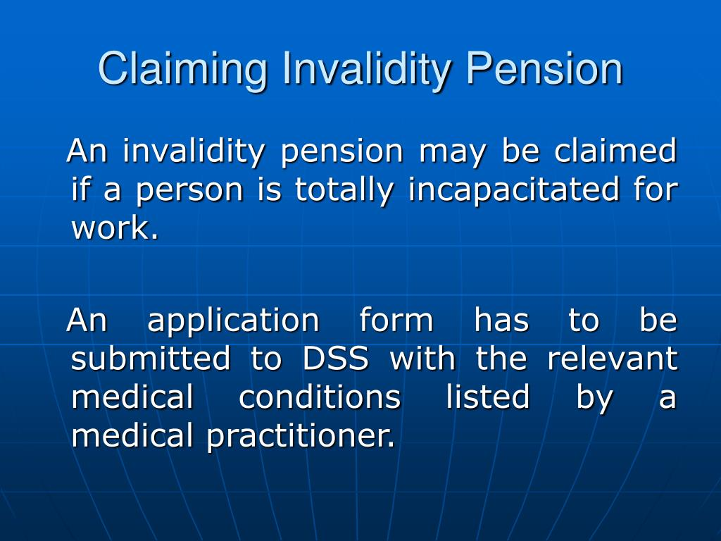 Claiming Invalidity Pension