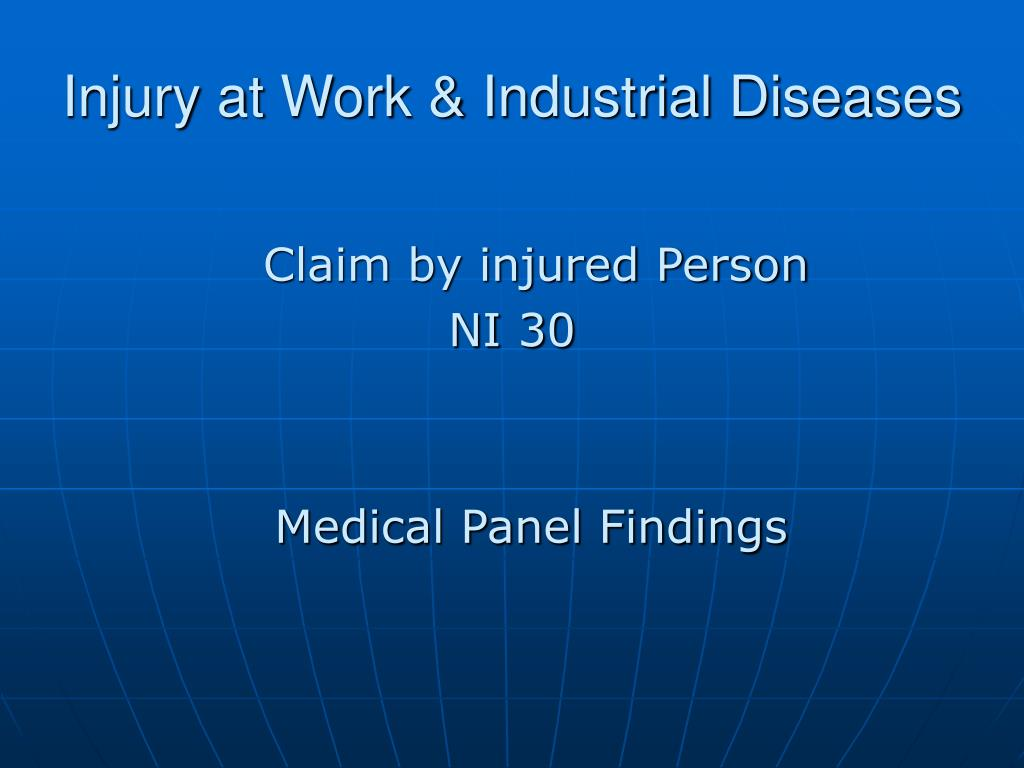Injury at Work & Industrial Diseases