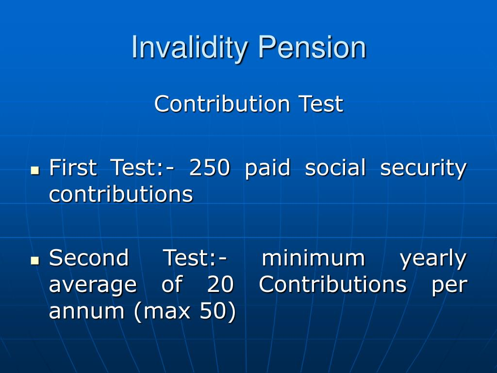 Invalidity Pension