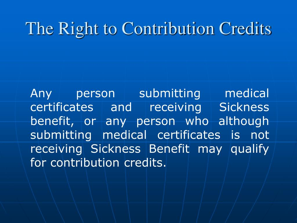 The Right to Contribution Credits