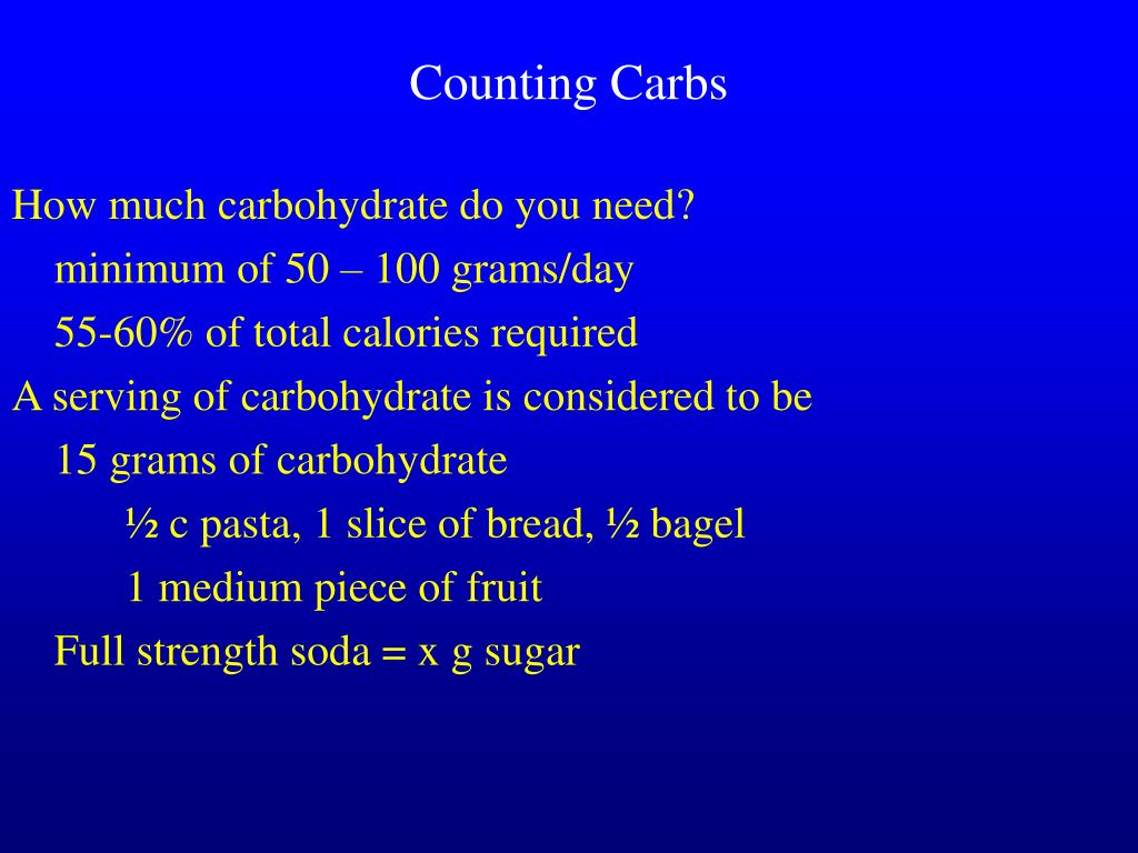 Counting Carbs