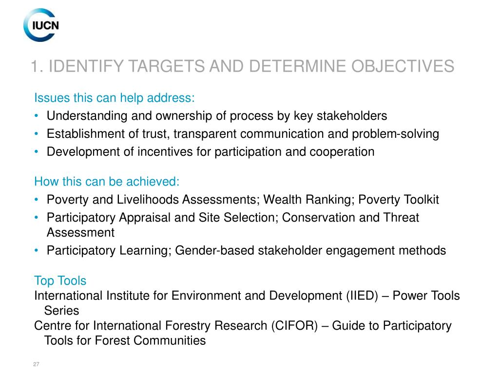 1. IDENTIFY TARGETS AND DETERMINE OBJECTIVES