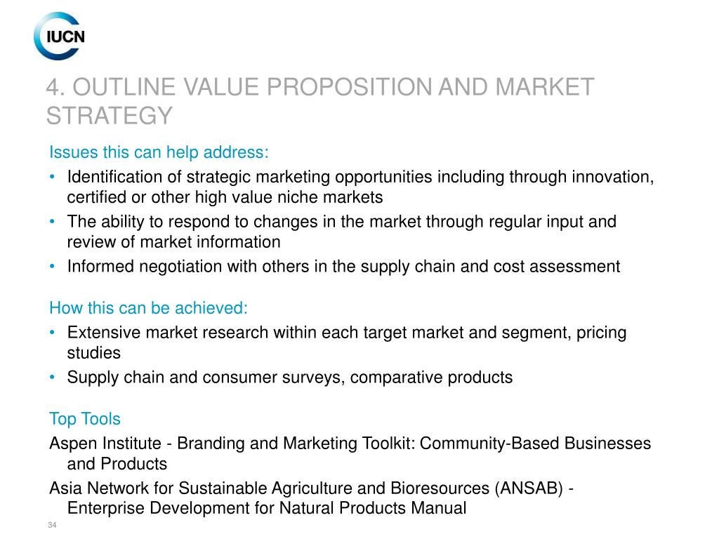 4. OUTLINE VALUE PROPOSITION AND MARKET STRATEGY