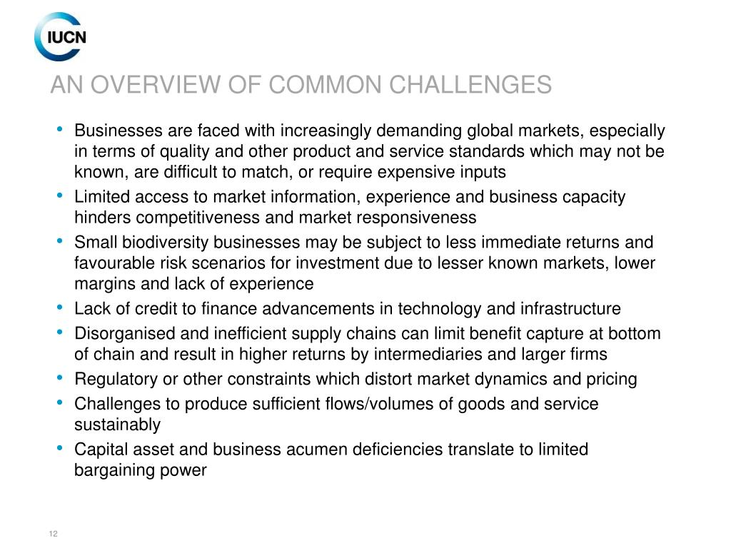 AN OVERVIEW OF COMMON CHALLENGES