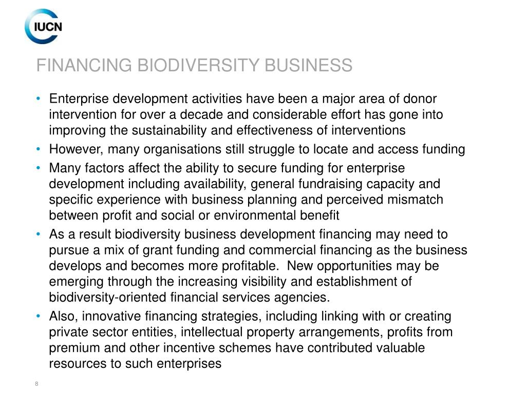 FINANCING BIODIVERSITY BUSINESS