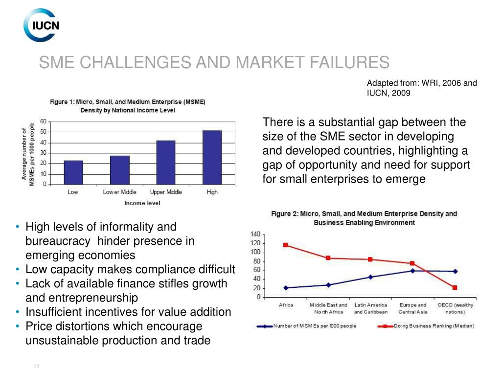 SME CHALLENGES AND MARKET FAILURES